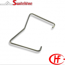 METAL RETAINING CLIP FOR PCB SOCKETS TYPE HF115F