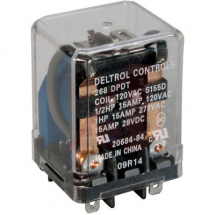 DELTROL DPDT 15A POWER RELAY 120VAC