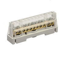 63A 11 WAY TERMINAL BLOCK GREY