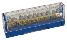 63A 11 WAY TERMINAL BLOCK BLUE