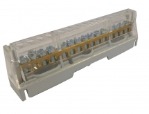 63A 15 WAY TERMINAL BLOCK GREY