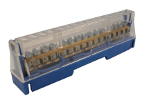 63A 15 WAY TERMINAL BLOCK BLUE