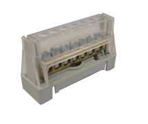 63A 7 WAY TERMINAL BLOCK GREY