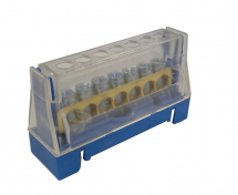 63A 7 WAY TERMINAL BLOCK BLUE