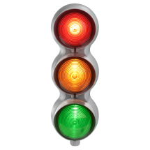 SIRENA TRAFFIC LIGHT RED/AMBER & GREEN MULTIFUNCTION 24VAC/DC