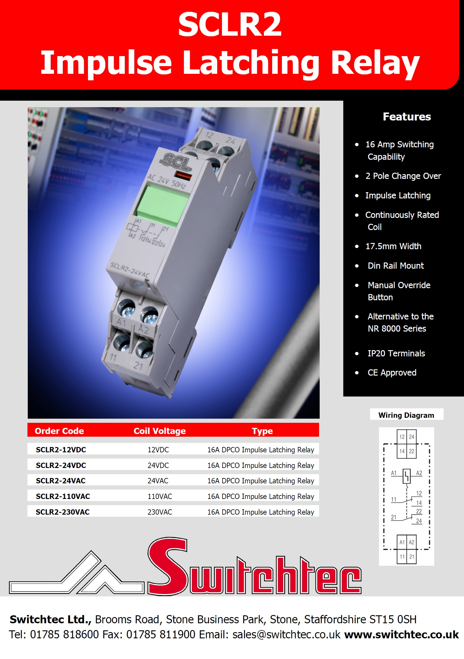 SCLR2 Latching Relay Datasheet