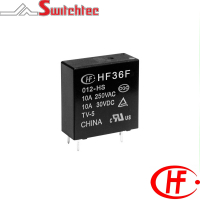 HF36F Series - 1 Pole Normally Open/Changeover Relay 10 Amp