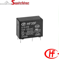 HF33F Series - 1 Pole Normally Open/Changeover Relay 3-10 Amp