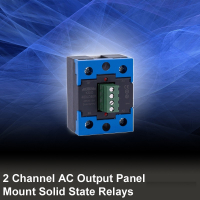 2 Channel AC Output Panel Mount SSR Relays