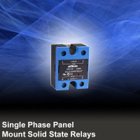 Single Phase Panel Mount Solid State Relays AC Output with Integrated Cover