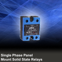 Single Phase Panel Mount Solid State Relays DC Output with Integrated Cover