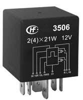 HF3508B Series - Flasher Relay 2x21W + 5W + 1W 13.5VDC