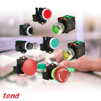 Tend PB22 Series - Pushbuttons, Key Switches & Selector Switches
