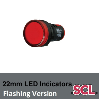 22mm Flashing LED Indicators
