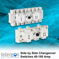 3 Pole & Neutral Side by Side Changeover Switches 40-160 Amp type S5L