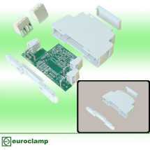 EUROCLAMP DIN MODULE HOUSING 17.5MM GREY