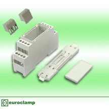 EUROCLAMP DIN MODULE HOUSING 22MM GREY