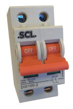 SCL MODULAR ISOLATION SWITCH 100AMP 2 POLE