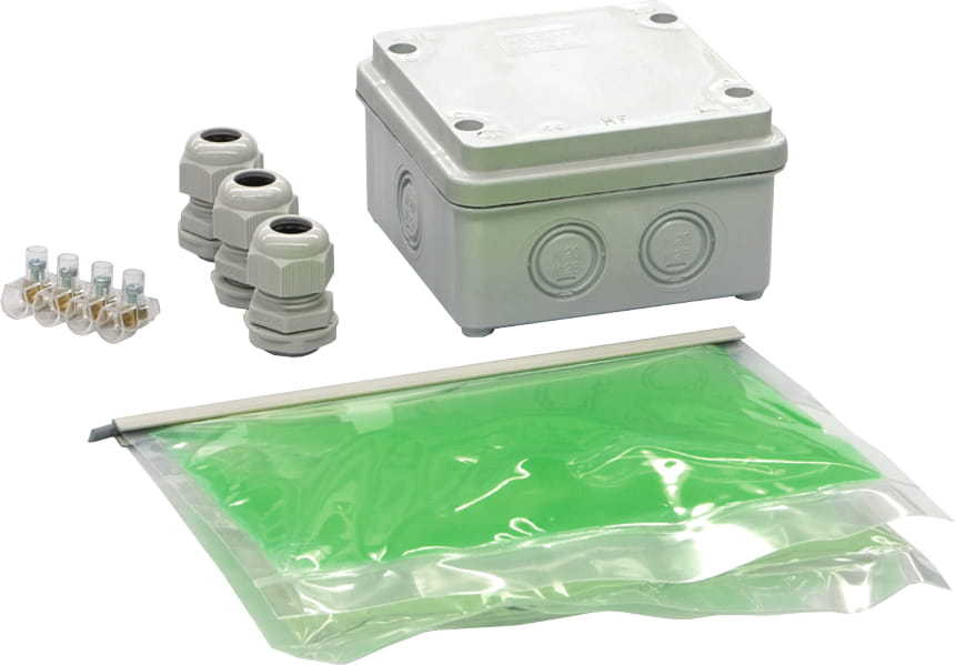 IP68 BI-COMPONENT RUBBER KIT INC 80MM ENCLOSURE & TERMINALS
