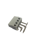 SIDE ANGLED PCB TERMINAL BLOCK 16A 5mm PITCH 4 POLE LEFT