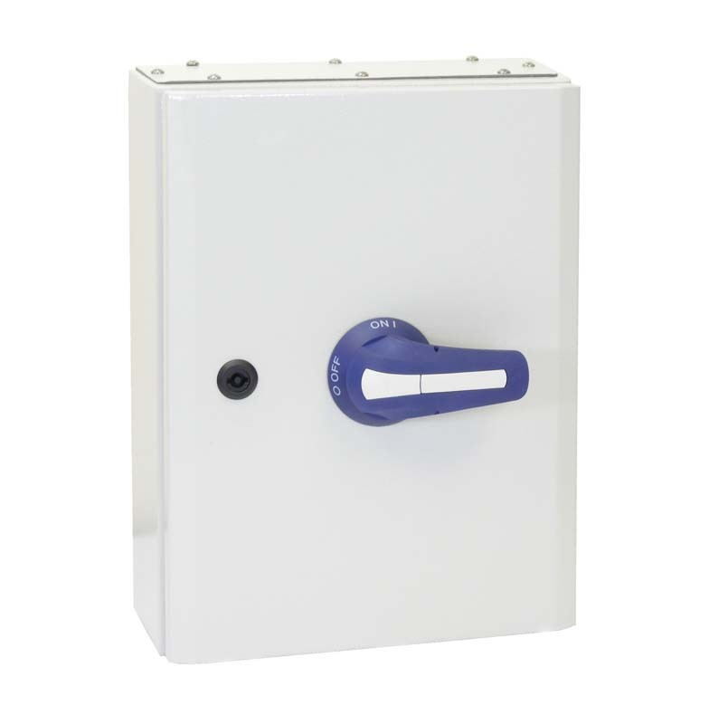 160A 3P+N ON-OFF SWITCH IN IP65 METAL ENCLOSURE