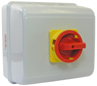 125A 4P ON-OFF ISOLATOR SWITCH IN IP55 METAL ENCLOSURE