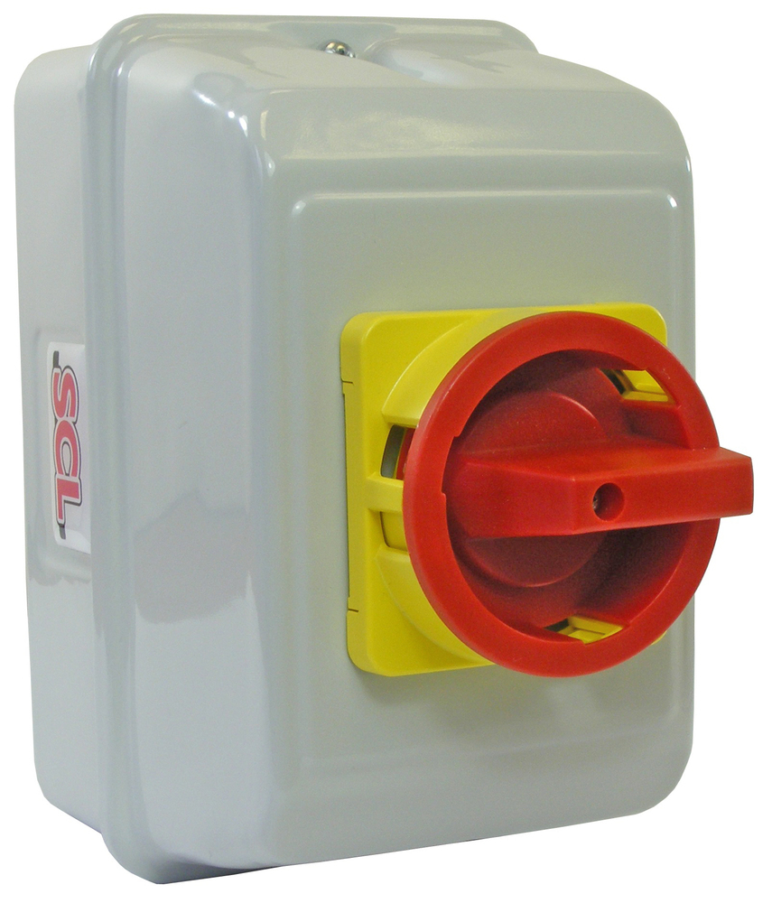 20A 4P ON-OFF ISOLATOR SWITCH IN IP55 METAL ENCLOSURE