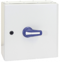 32A 3P+N ON-OFF SWITCH FUSE IN IP65 METAL ENCLOSURE