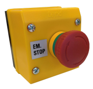 EM STOP STATION-TWIST RELEASE WITH 1 N/C CONTACT BLOCK
