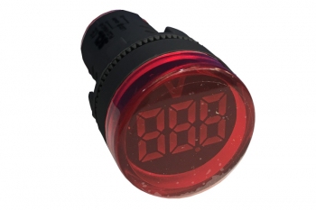 22mm VOLTMETER 50-380VAC RED COLOURED TERMINAL CAP
