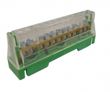 63A 11WAY TERMINAL BLOCK GREEN