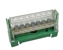 63A 7 WAY TERMINAL BLOCK GREEN