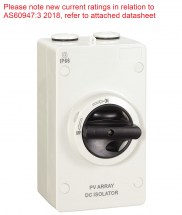 32A TRUE DC ENCLOSED ISOLATOR IP66